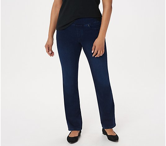 """As Is"" Belle by Kim Gravel Regular Flexibelle Boot-Cut Jeans"