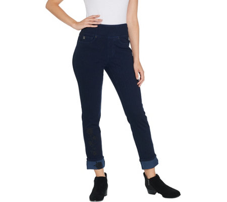 Belle by Kim Gravel Regular Flexibelle Rose Ankle Jean