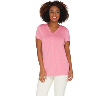 As Is Laurie Felt Short Sleeve V Neck Perfect T Shirt