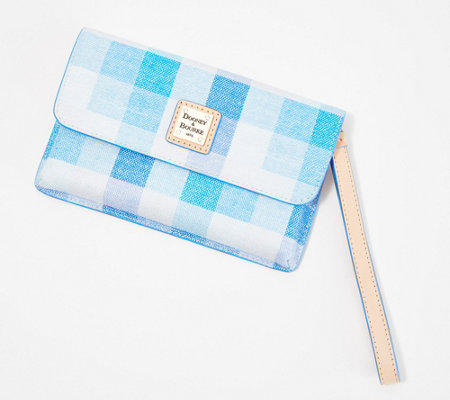 Dooney & Bourke Coated Cotton Check Milly Wristlet