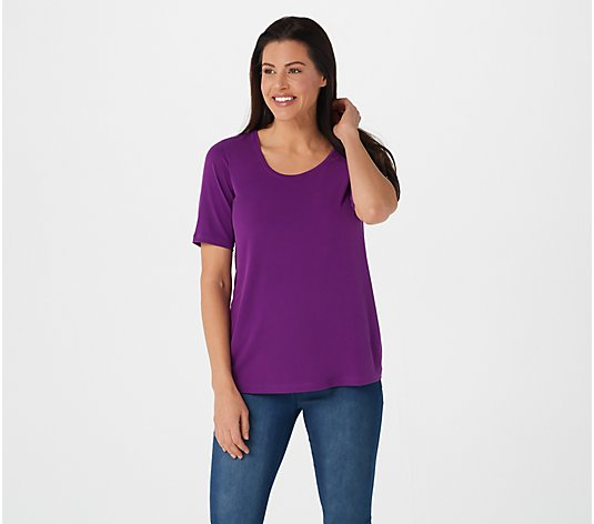 Susan Graver Modern Essentials Liquid Knit U-Neck Top