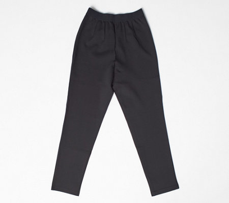 Joan Rivers Petite Signature Ankle Pants w/ Stretch Waist