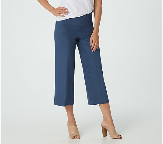 Isaac Mizrahi Live! Tall 24/7 Stretch Heathered Culotte Pants
