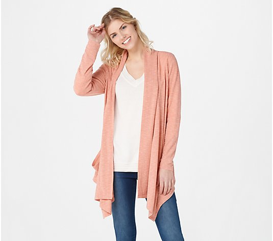 """As Is"" Lisa Rinna Collection Wide Ribbed Cardigan"