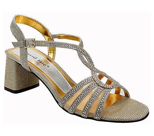 David Tate Strappy Evening Glitter Sandals - Choice