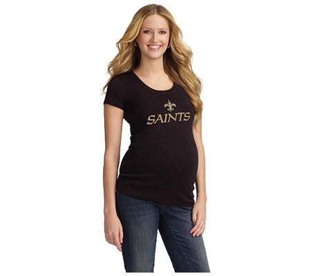 NFL New Orleans Saints Women s Maternity T-Shirt — QVC.com 261a45c8a