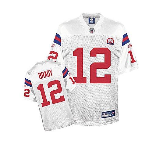 NFL Patriots AFL 50th Anniversary Tom Brady Replica Jersey - QVC.com