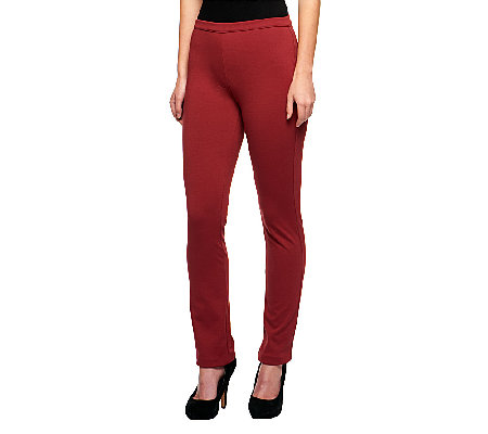 Isaac Mizrahi Live! Icon Grace Regular Pull-On Ponte Knit Pants