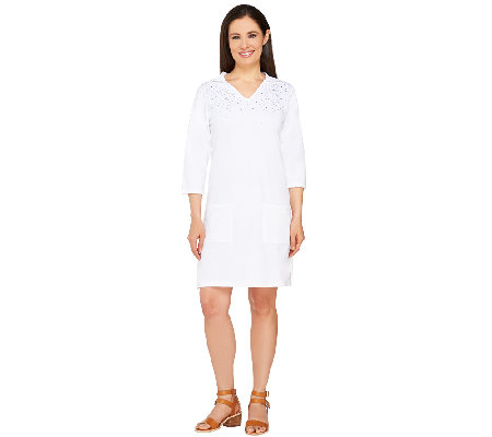 Quacker Factory Hooded Beach Cover-Up