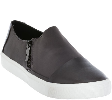 H by Halston Slip-on Sneaker with Zipper Detail - Emma