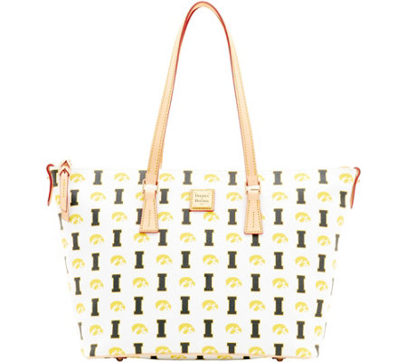 Dooney & Bourke NCAA University of Iowa Zip Top Shopper