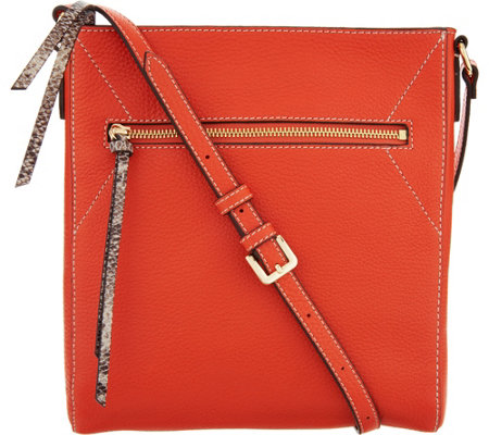 G.I.L.I. Pebble Leather Flat Crossbody