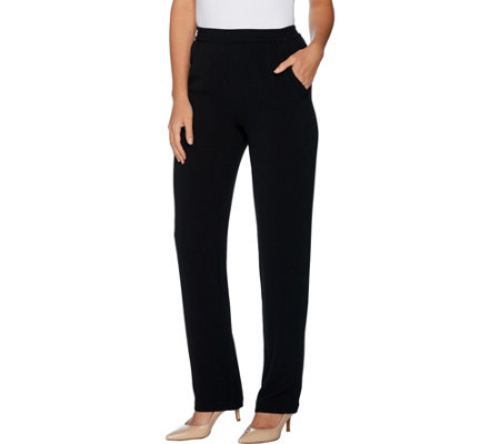 Linea by Louis Dell'Olio Petite Gauze Crepe Pull On Pants