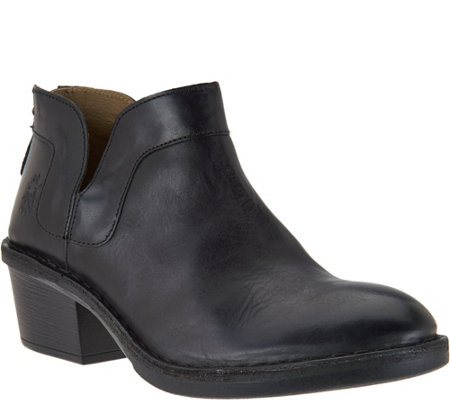 """As Is"" FLY London Leather Ankle Boots - Dias"