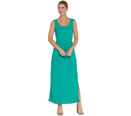 Attitudes by Renee Petite Sleeveless Tie Front Knit Maxi Dress