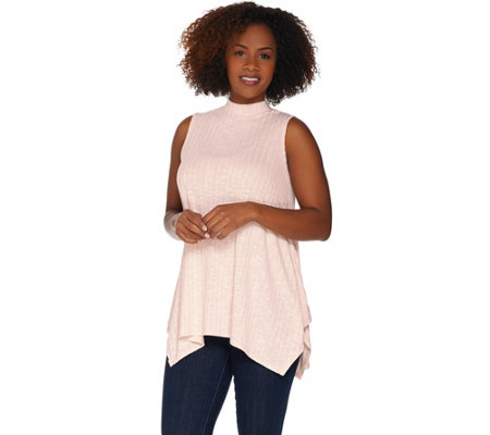 Lisa Rinna Collection Sleeveless Mock Neck Swing Top