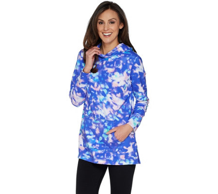 """As Is"" Isaac Mizrahi Live! SOHO Photoreal Pullover Hoodie"
