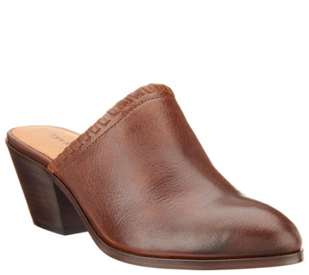 frye & co. Leather Open Back Mules - Cody