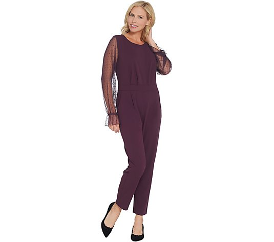 Du Jour Regular Mesh Sleeve Slim Leg