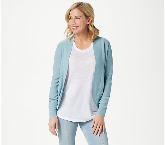 Belle by Kim Gravel Slub Knit Cocoon Cardigan