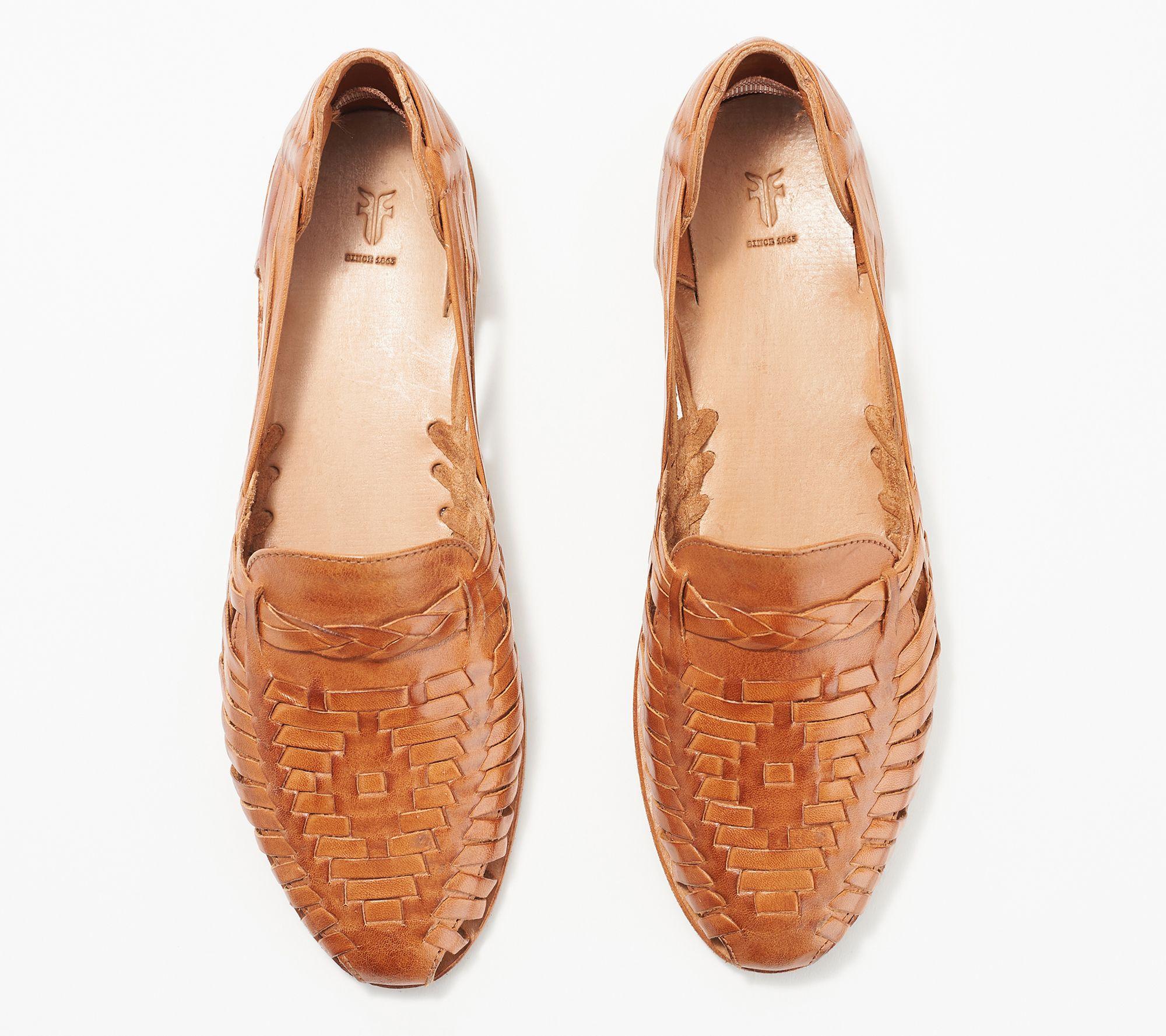Frye Leather Slip-On Sandals - Heather Huarache - QVC.com