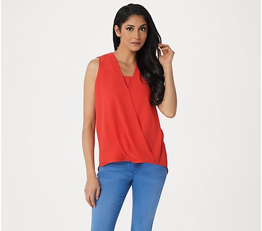 Laurie Felt Sleeveless Wrap Blouse
