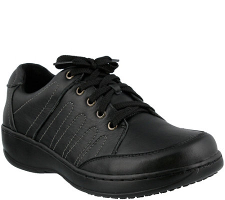 Spring Step Leather Lace-Up Shoe - Veri