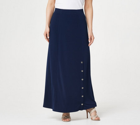 Every Day by Susan Graver Regular Liquid Knit Maxi Skirt
