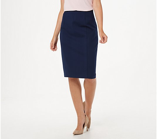 Susan Graver Ponte Pull-On Pencil Skirt