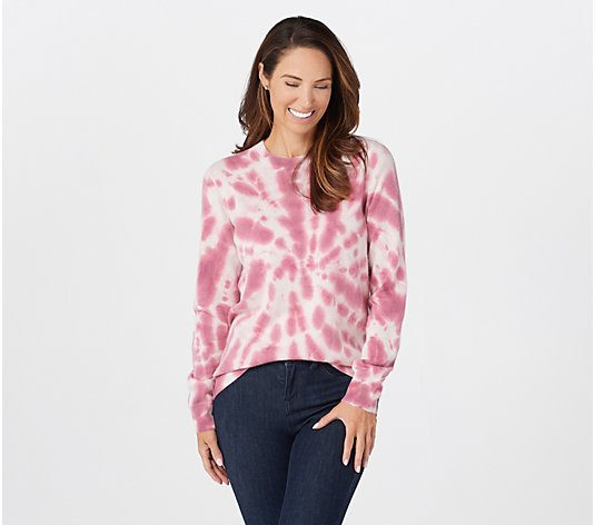 Soft by NAADAM 100% Cashmere Tie-Dye Pullover Sweater