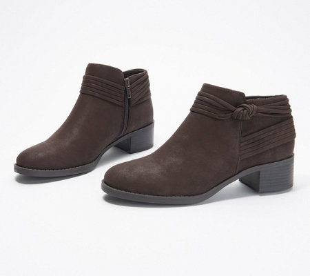 wholesale dealer 89f07 85221 Easy Street Knot Ankle Boots - Wylie — QVC.com