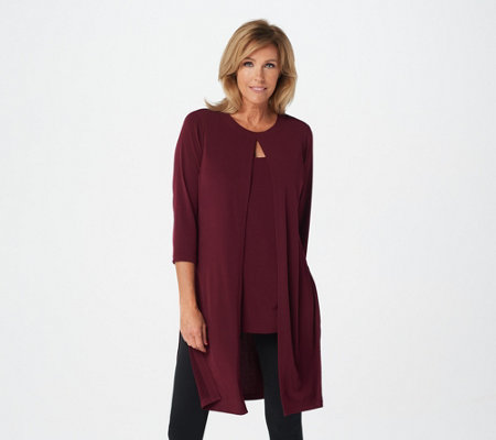 """As Is"" Every Day by Susan Graver Regular Liquid Knit Tunic"