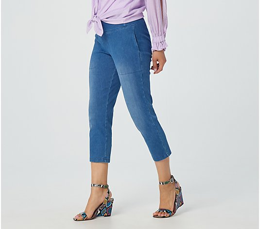 Wicked by Women with Control Prime Stretch Denim Crop Pant with Pockets