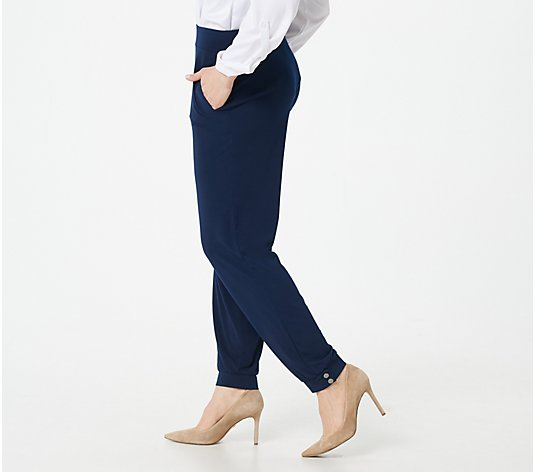 Susan Graver Regular Liquid Knit Pull-ON Ankle Pant