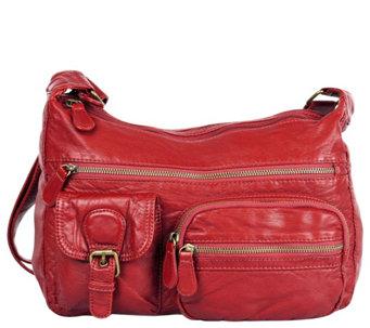 Karla Hanson Charlotte Pre-Washed Hobo Organizer Bag - A418056 5225ef8cd8f14