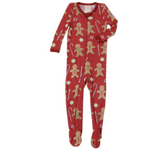 7f62737787 Munki Munki Infant Gingerbread Thermal BlanketSleeper PJs - A419256