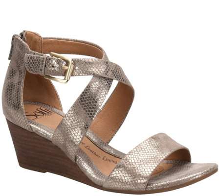 Sofft Leather Wedge Sandals Mauldin