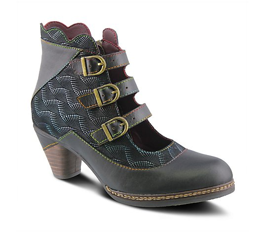L'Artiste by Spring Step Open-Front Leather Booties - Dorrie