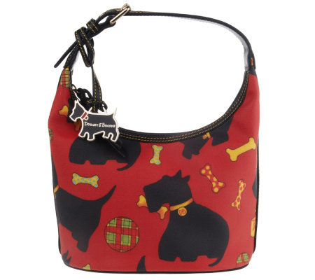 Dooney Bourke Scottie Dog Signature Coated Bucket Bag