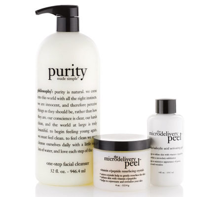 philosophy super-size cleanse and peel duo