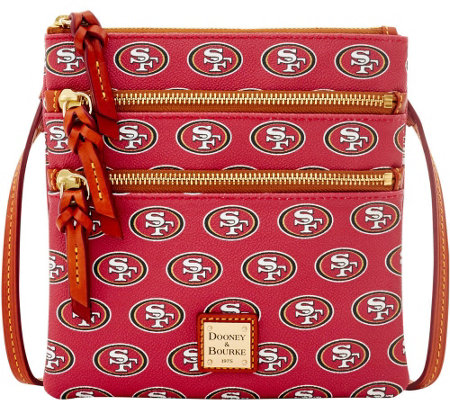 Dooney & Bourke NFL 49ers Triple Zip Crossbody