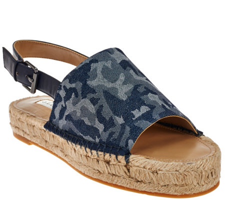 """As Is""G.I.L.I. Espadrille Sandals with Backstrap Lucida"