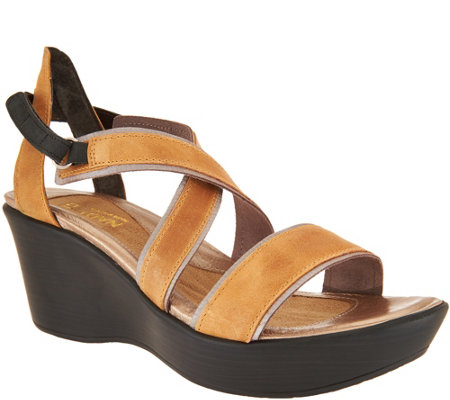 Naot Leather Wedge Sandals - Gesture cheap sale reliable cheap sale brand new unisex clearance looking for new for sale VkEQdON