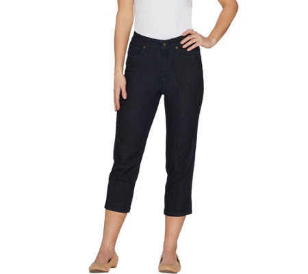 Denim & Co. Regular Perfect Denim Crop Length Jeans