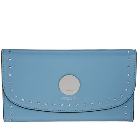 LODIS Los Angeles Italian Leather Clutch Wallet - Luna