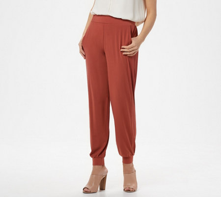 Lisa Rinna Collection Regular Knit Ankle Pant