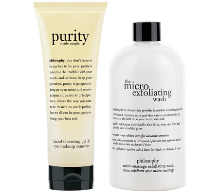 philosophy purity cleansing gel and microdelivery wash duo