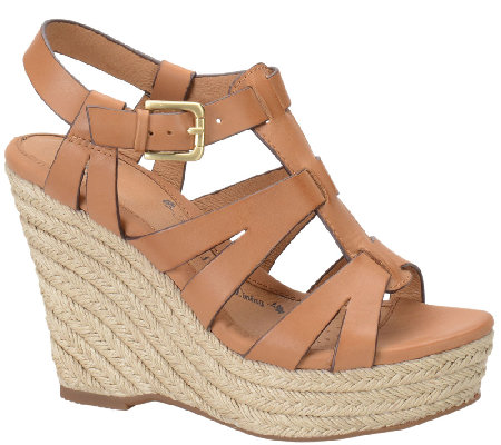 Sofft Leather Wedge Sandals - Pahana