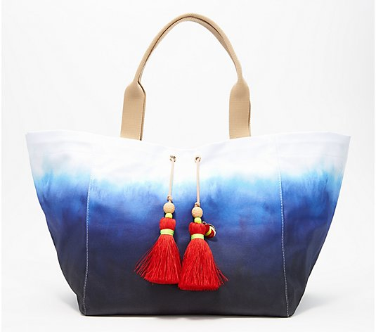 G.I.L.I. Large Novelty Canvas Tote with Tassels