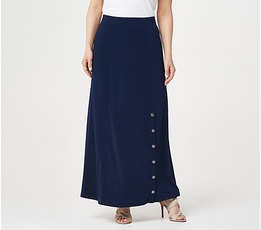 Every Day by Susan Graver Petite Liquid Knit Maxi Skirt